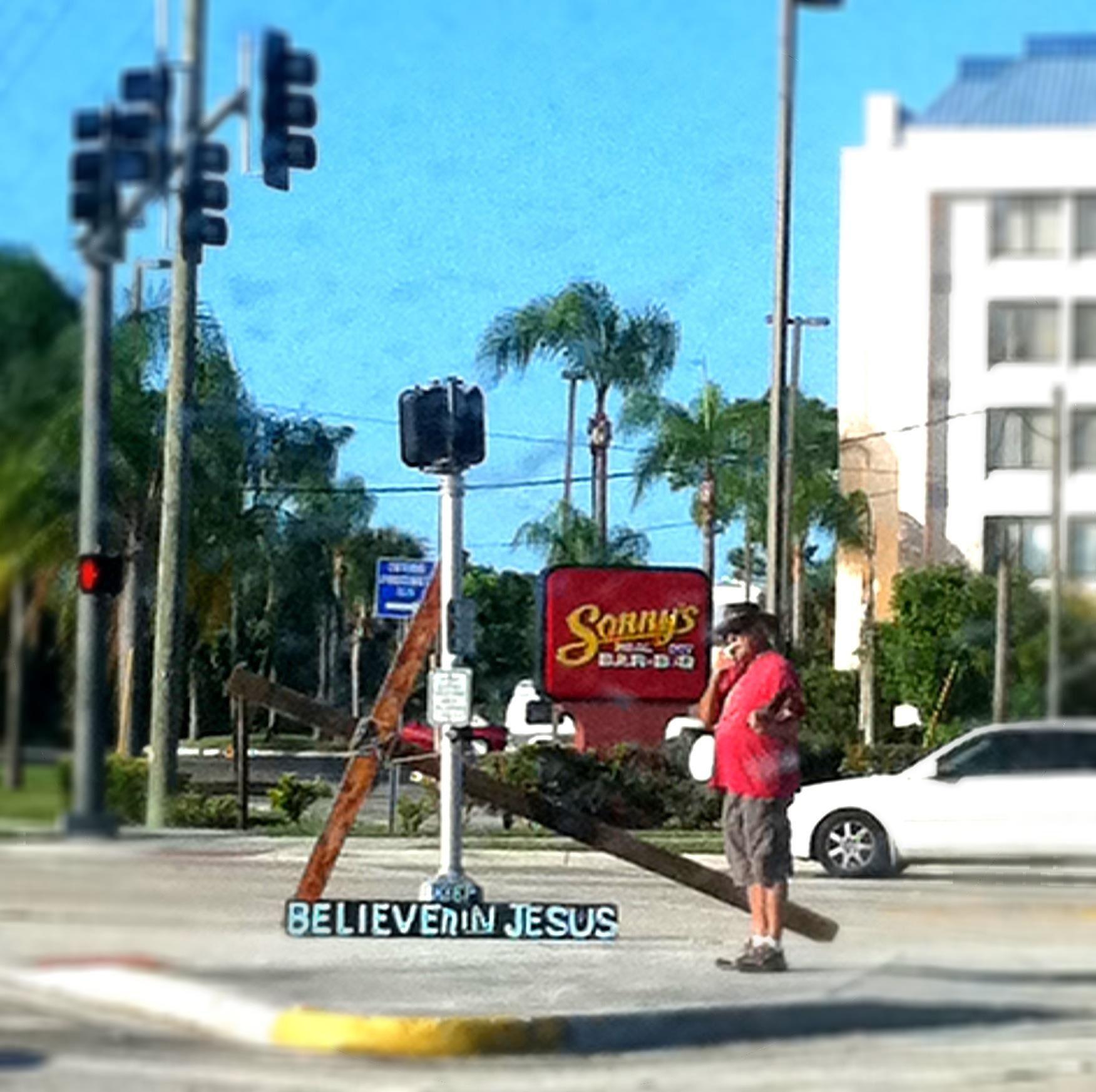 Port Saint Lucie Street Preacher Omg This Dude He Is Everywhere