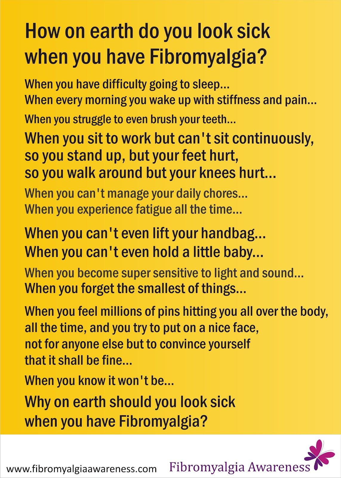 Fibromyalgia Awareness   Information, Tips, Support, Patient Stories: How on earth do you look sick?