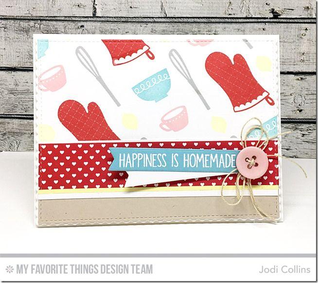 Kitschy Kitchen Stamp Set, You Bake Me Happy Stamp Set, Stitched Sentiment Strips Die-namics, Blueprints 13 Die-namics, Blueprints 20 Die-namics - Jodi Collins  #mftstamps