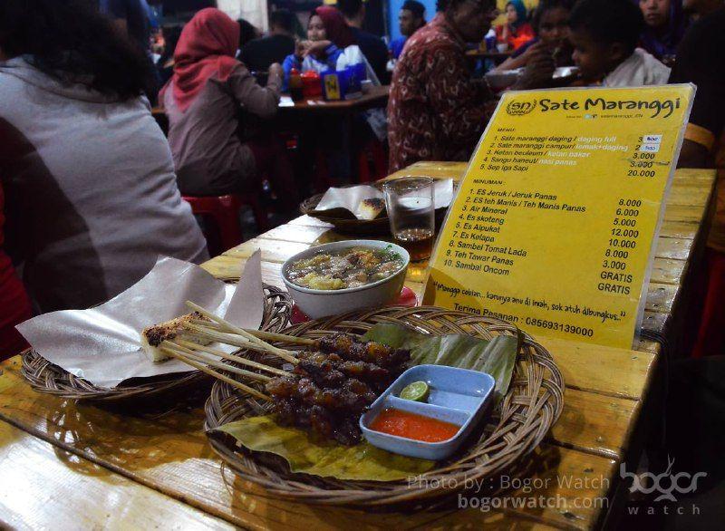 Sate Maranggi Sn 4444 Kuliner Malam Kota Bogor Alpukat Dan Malam