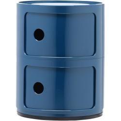Designer furniture -  Kartell Componibili modular elements, two compartments, round, purple KartellKartell  - #antiquedecor #apartmentdecor #bedroomdecor #designer #furniture #homedecor