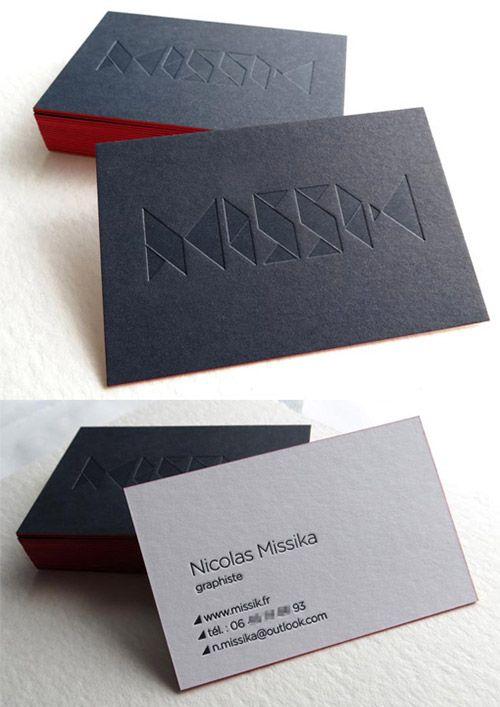 30 Incredible Examples Of Blind Deboss Business Card Designs Naldz Graphics Business Card Design Letterpress Business Cards Minimal Business Card