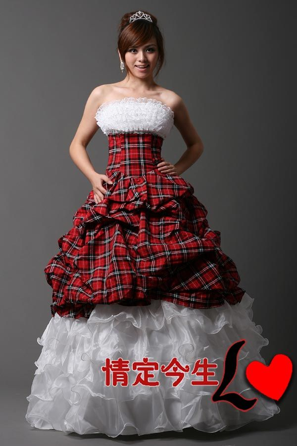 Plaid And Lace Wedding Dress For Heather Plaid Wedding Dress