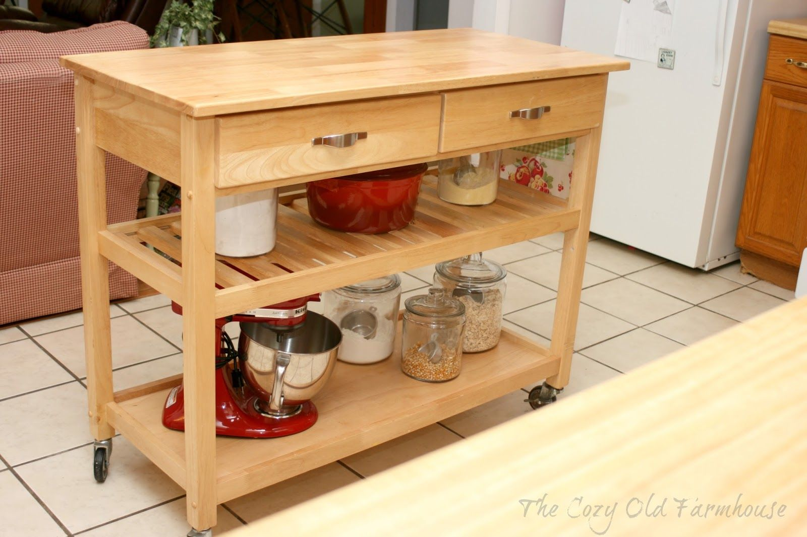 Kitchen island rolling  Diy Kitchen Island Rolling Plans Ana White How To Small Prep Cart