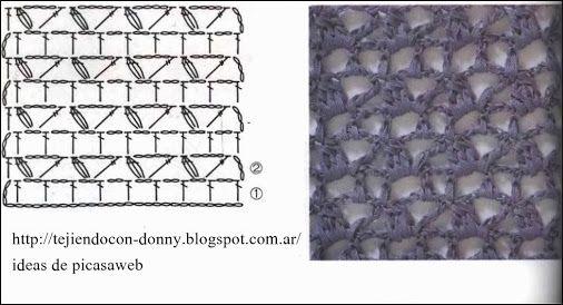 aéré et détail original, les brides piquées et coulées ensemble , pôur apporter une variation au point de grille