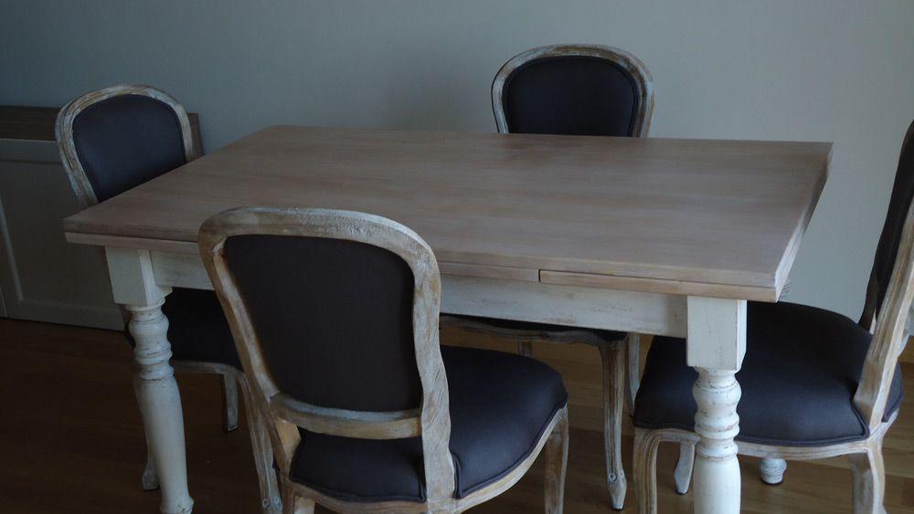 Tavolo Bianco Decape.Tavolo E Sedie Decape Effetto Decapato Per Tavolo E Sedie A