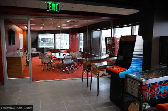 Valve offices. There's an arcade on each floor and free massages every Friday.