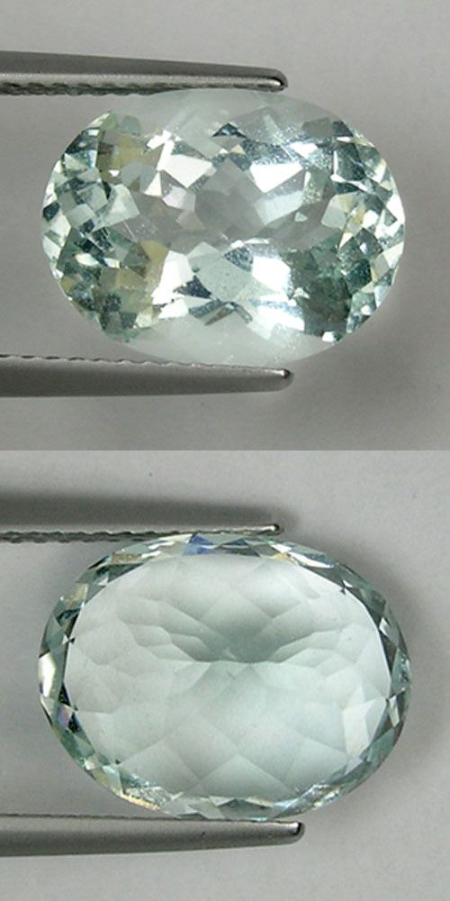 Beryl 110789: 5.53 Ct Lustrous - Colorless Green Natural Beryl - Aquamarine Oval ! BUY IT NOW ONLY: $59.99
