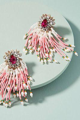 Pink Minx Beaded Earrings