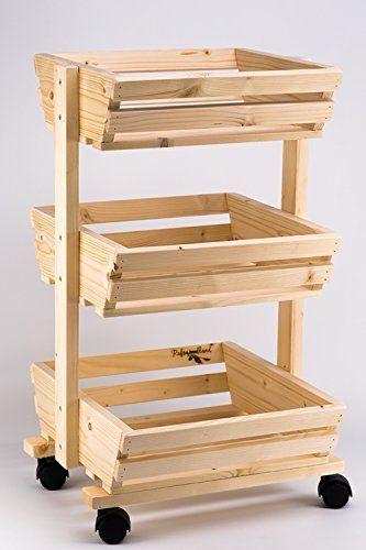 3 Tier Wooden Vegetable Rack Fruit Food Storage On The Wheels Rafswoodland Http Www Co Uk Dp B00wc4bqr8 Ref Cm Sw R Pi Ojnnvb0g04r35