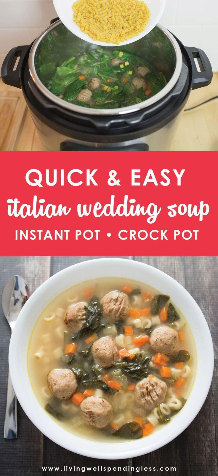 Easy italian wedding soup instant pot soup recipe