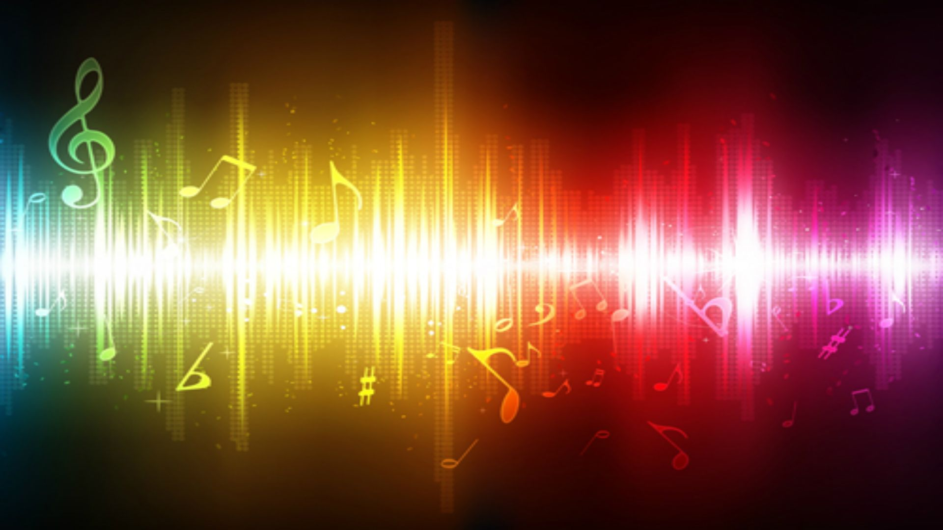 Sound Music Vector Colorful Rainbow Background Wallpaper