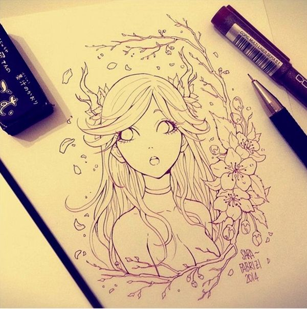 40 amazing anime drawings and manga faces bored art