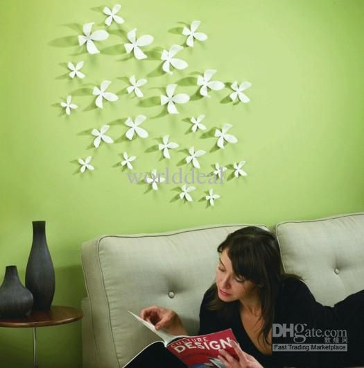 Small 3d Vivid Flower Wall Sticker Home Art Decoration Wallpaper Pop Up Qt021 Quote Wall Sticker Quote Wall Stickers From Worlddeal 22 16 Dhgate Com Creative Wall Decor Home Wall Decor Flower Wall