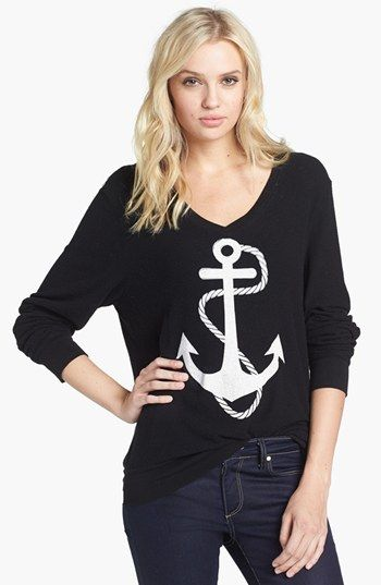 Wildfox 'Anchor' V-Neck Sweater available at #Nordstrom
