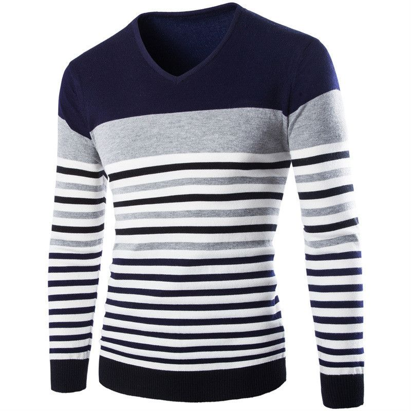 free shipping stylish brand modern. Free Shipping 2017 Autumn Long-sleeve Sweater Male Jacquard Stripe V-neck Fashion Stylish Brand Modern 1