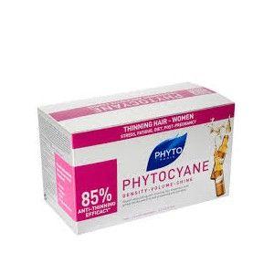 Phyto Phytocyane Sérum , c uidado antiqueda dinamizador do crescimento. Stresse, fadiga, dieta, gravidez. Antiqueda, antienvelhecimento, sublimador, o cuidado global, sem passar por água, em ampolas ultraconcentradas. Responde aos problemas de queda de cabelo feminina, reacional ou passageira.