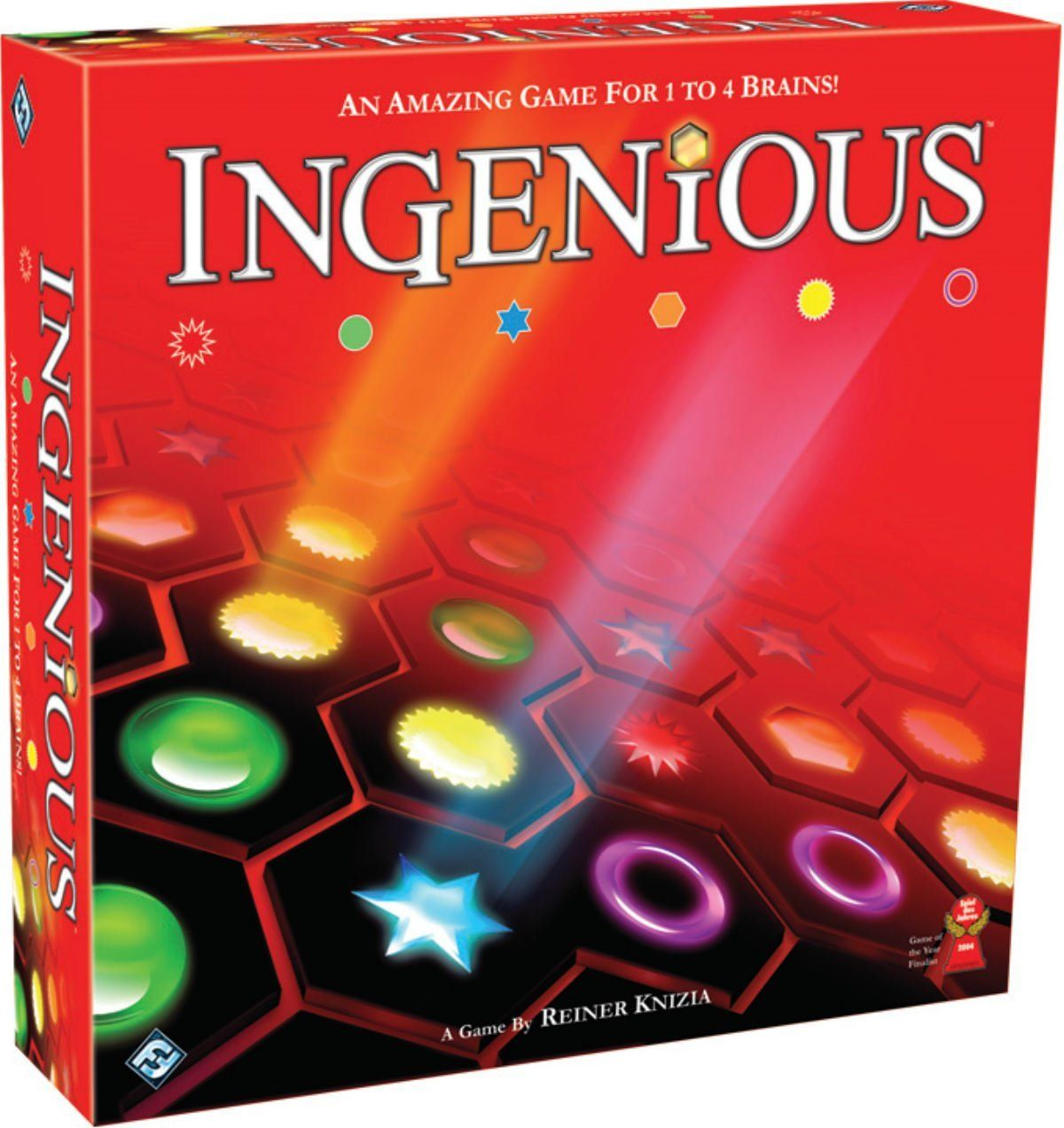 Ingenious from fantasy flight games set card game board