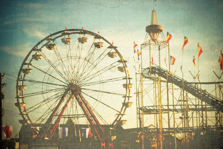 surreal carnival photography . vintage style fair print ...