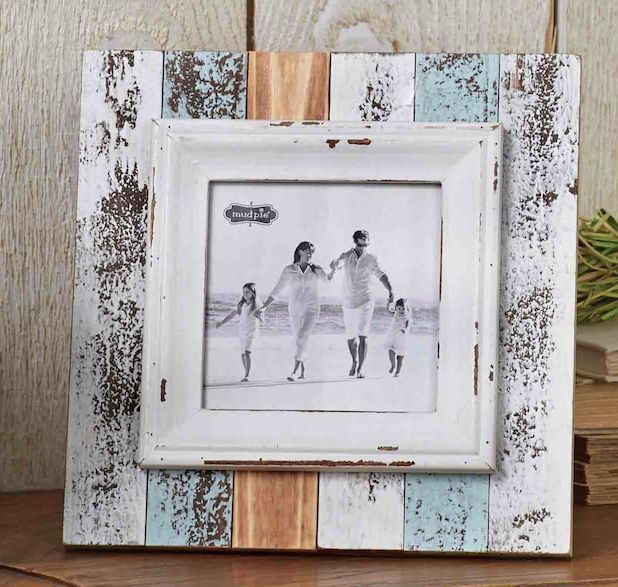 Square Beach Frame By Mud Pie Photo Picture Frames Picture Frames Nautical Theme Decor