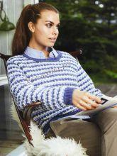 Пуловер в сине-бело-голубую полоску, фото