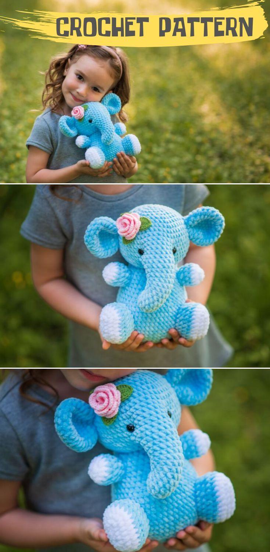 CROCHET PATTERN Elephant / Crochet pattern Elephant / Amigurumi pattern / Amigurumi animals / Crochet pattern toy