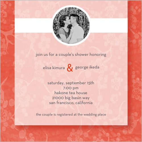 Lotus Blossoms Bridal Shower Invitation