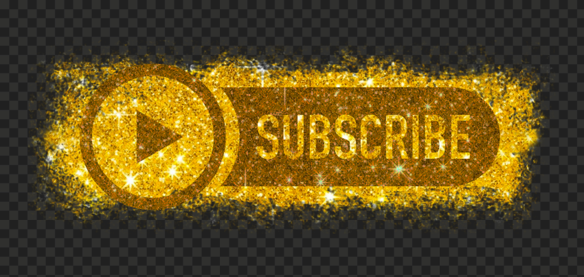 Hd Youtube Gold Glitter Subscribe Button Logo Png In 2021 Gold Glitter Png Logos