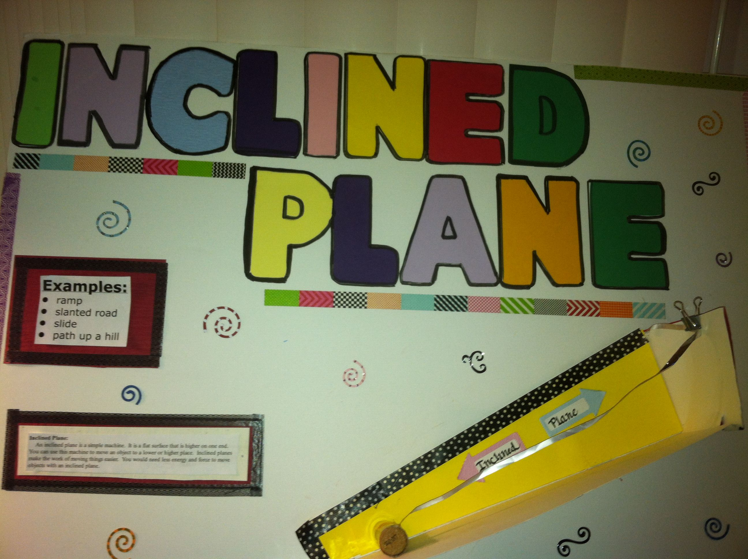 School Project Inclined Plane