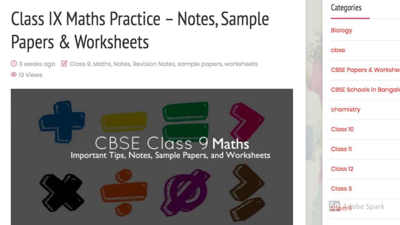 Biology Worksheets For Grade 9 Cbse - DIY Worksheet