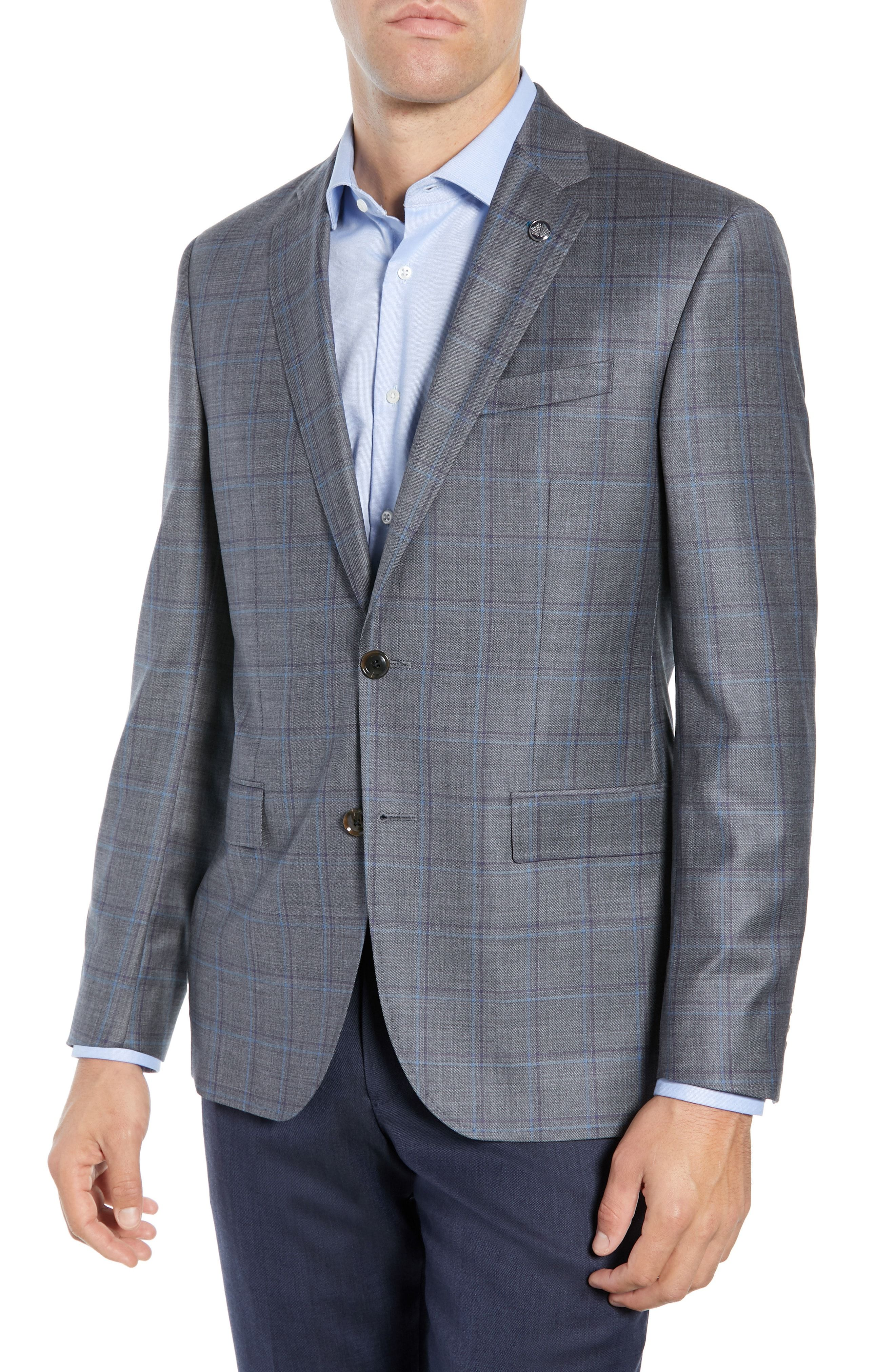 653b8cde187566 TED BAKER JAY TRIM FIT WINDOWPANE WOOL SPORT COAT. #tedbaker #cloth ...