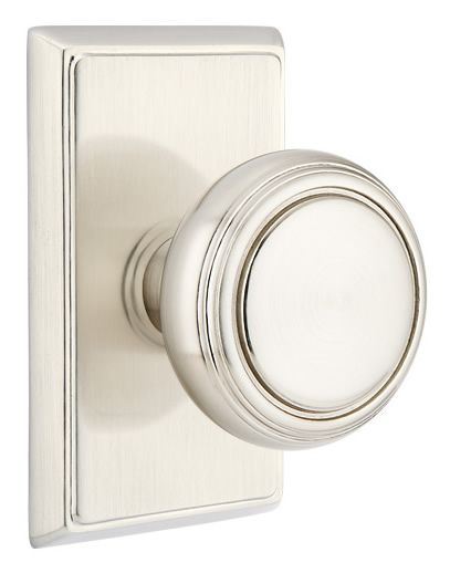 Emtek Norwich Door Knob With Rectangular Rosette hardware