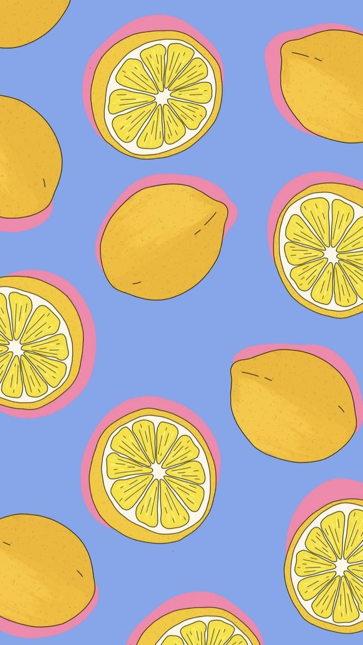 Squeeze the day with this lemon phone background.
