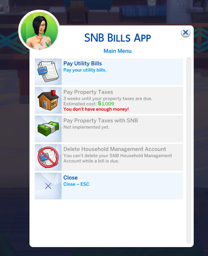Snb Bills Public By Simrealist Sims 4 Jobs Sims 4 Traits Sims 4 Skills