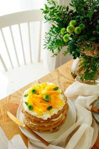 Meringue taart met hazelnoten, mango en citroen   Elien's Cuisine - Lekkere en gemakkelijke recepten