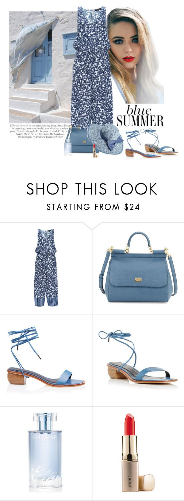 """""""Blue Summer"""" by katiethomas-2 ❤ liked on Polyvore featuring Thakoon, Dolce&Gabbana, Jessica Simpson, TIBI, Orlane, Jouer, women's clothing, women's fashion, women and female"""