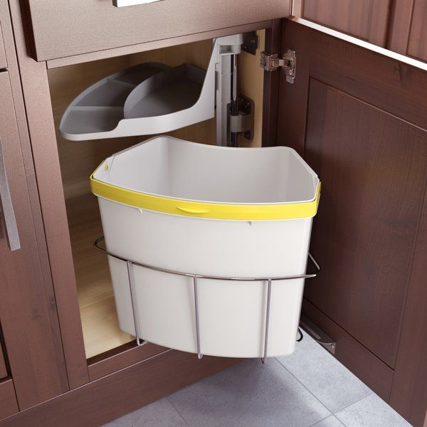 Oeko 4 Gallon Swing Top Cabinet Trash Can With Images