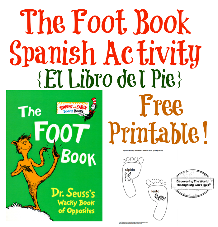 Dr. Seuss Foot Book Spanish Activity And FREE Printable