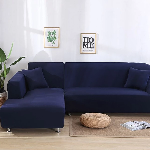 Plain Royal Blue Couch Cover Blue Sectional Sofa Cover Slipcovered Sofa Sofa Covers Cushions On Sofa