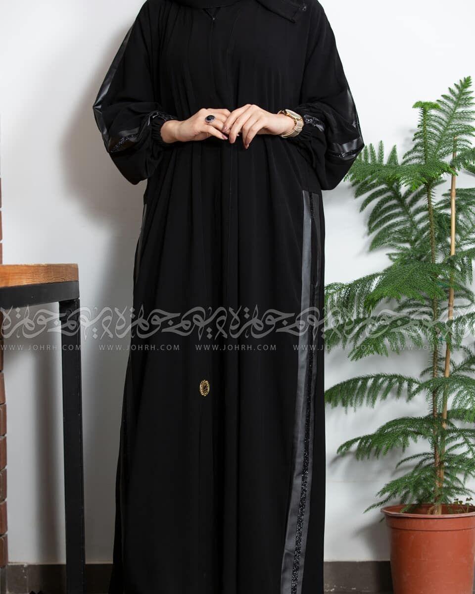 عباية ملكي بجلد اسود وكم زم وجيوب رقم الموديل ١٥١٨ السعر بعد الخصم ٢٦٣ ريال متجر جوهرة عباية عبايات ستايل عباية Fashion Maxi Dress Dresses