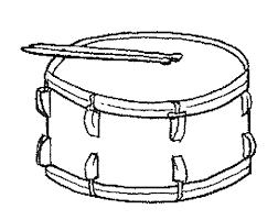 Afbeeldingsresultaat voor trommel  kleurplaat