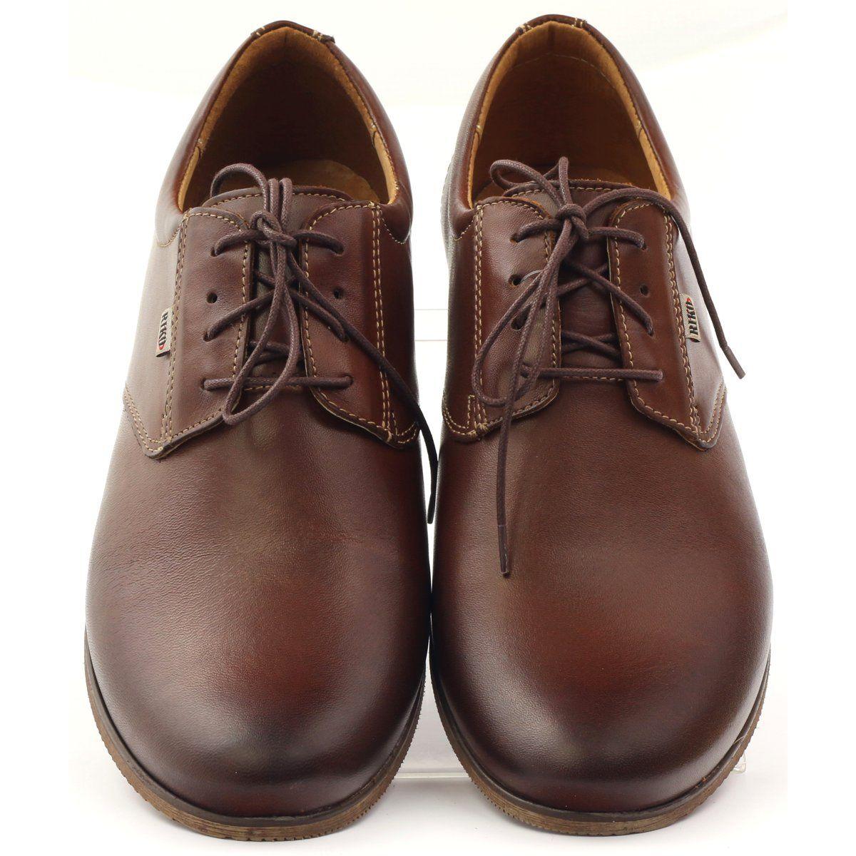 Polbuty Meskie Riko Polbuty Casual Riko 777 Brazowe Dress Shoes Men Oxford Shoes Dress Shoes