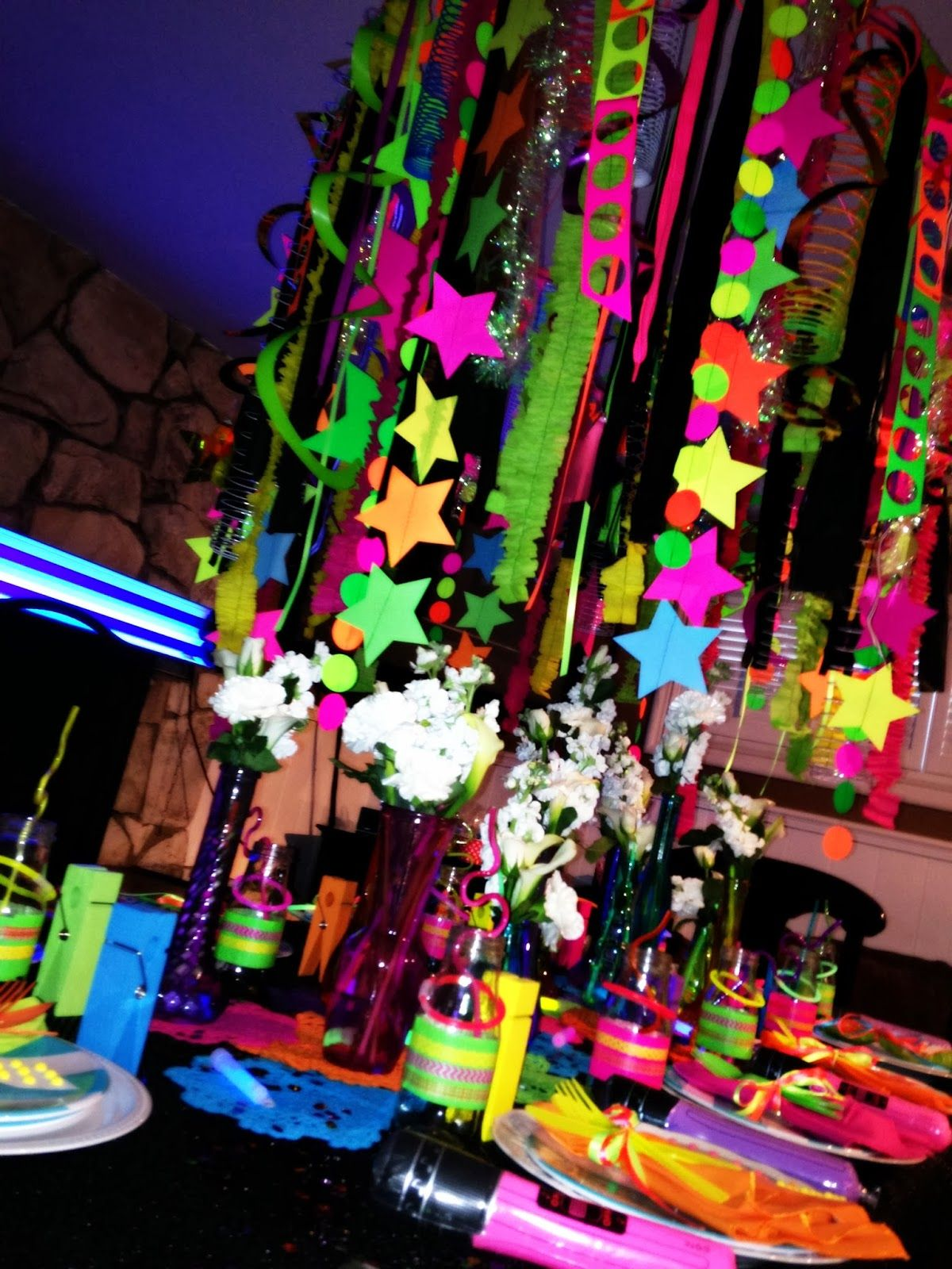 Neon Colored Party Supplies