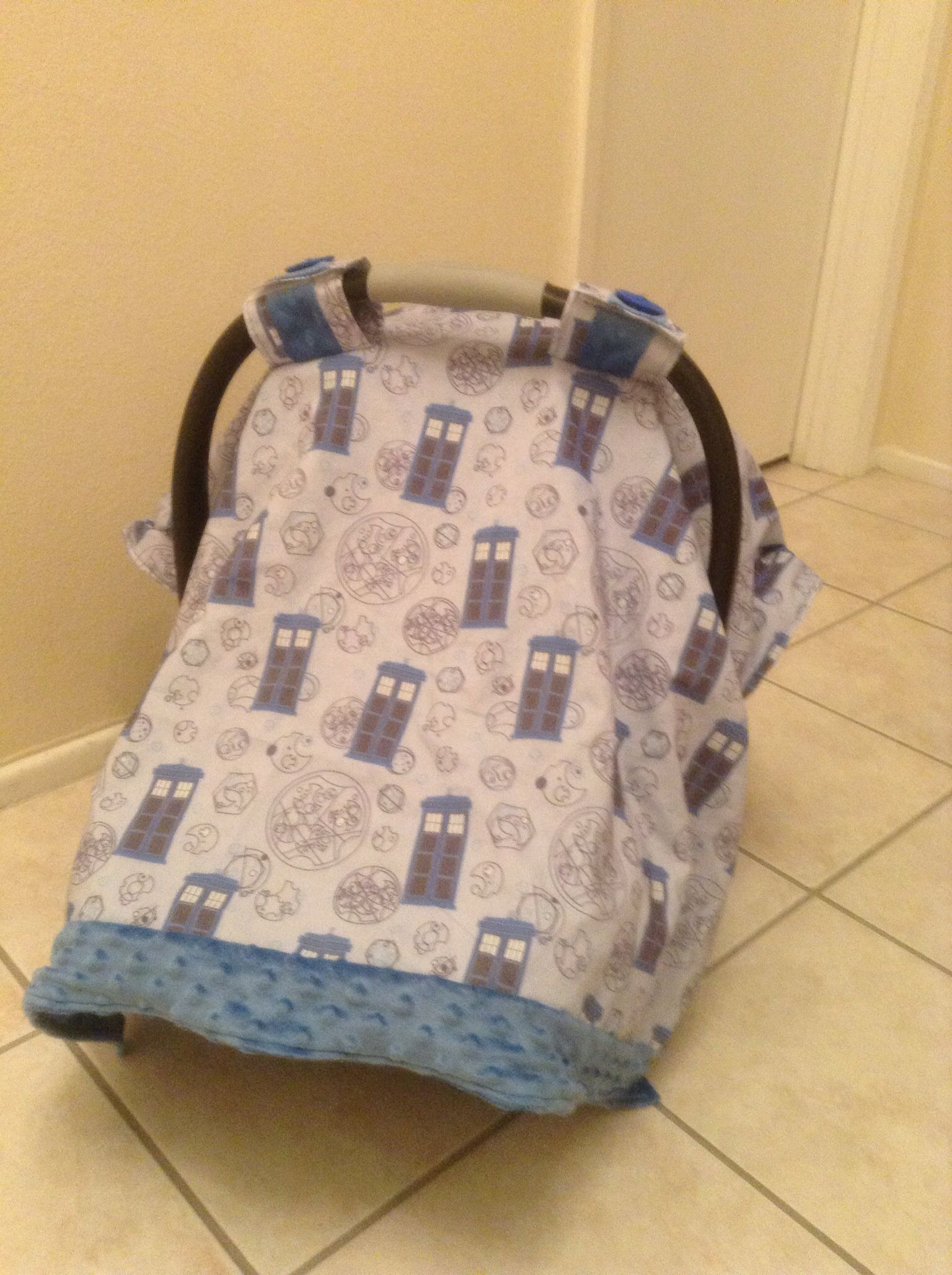 Custom Doctor Who Inspired Car Seat Canopy & Custom Doctor Who Inspired Car Seat Canopy | Custom Car Seat ...