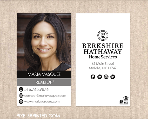 berkshire hathaway hs business cards realtor business cards real estate agent business cards simple modern real estate agent cards estate agent business - Real Estate Business Cards