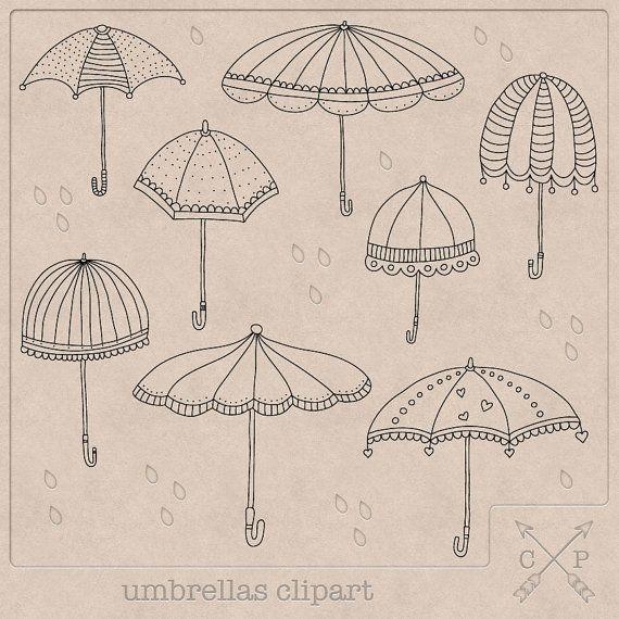 Umbrella Clip Art Doodles How To Draw Hands