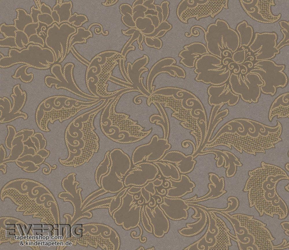 Rasch Textil Amira 23 226019 Blüten Vliestapete Grau Braun
