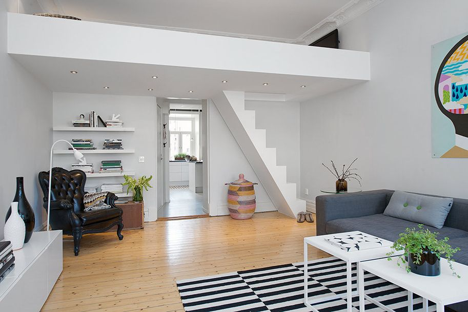 Custom Built Small Loft Apartment In Stockholm Smavaerelsesdesign