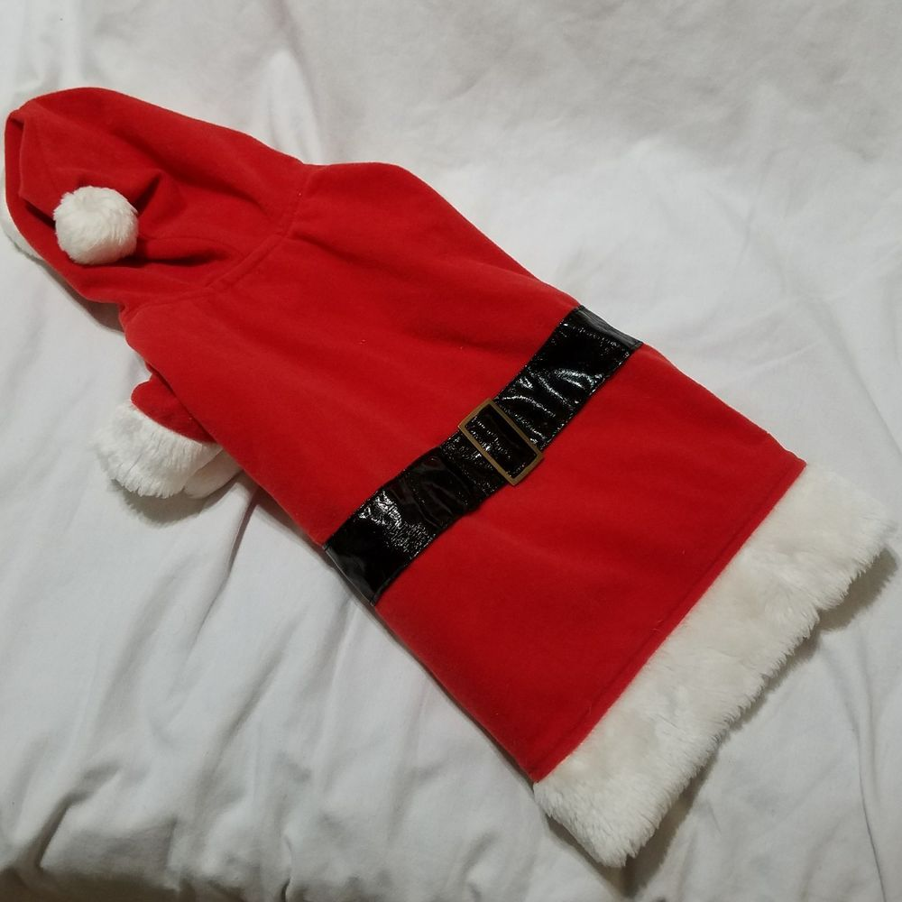 Santa Claus Dog Outfit Costume Size M EUC Christmas Winter FREE SHIPPING #Unbranded #Costume