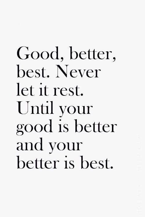 Best Motivational Quotes : Good better best//